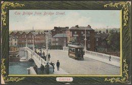 Exe Bridge From Bridge Street, Exeter, Devon, 1910 - J Welch Postcard - Exeter