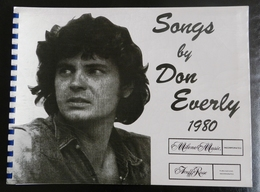 Songs By DON EVERLY SONGBOOK 1980 Milene Music Acuff Rose Sheet Music - Unclassified