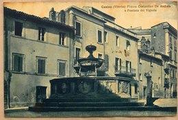 Canino (Viterbo) Piazza Costantino De Andreis E Fontana Dei Vignola - Viterbo