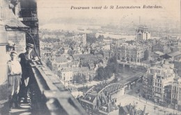 Panorama Vanaf De St Laurenstoren Rotterdam Circulée En 1908 - Rotterdam