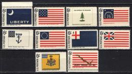 STATI UNITI - 1968 - BANDIERE STORICHE AMERICANE - MNH - Stati Uniti