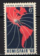 "STATI UNITI - 1968 - FIERA INTERNAZIONALE ""HEMIS FAIR"" A SAN ANTONIO - MNH - Stati Uniti"