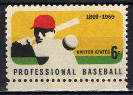 STATI UNITI - 1969 - CENTENARIO DEL BASEBALL PROFESSIONISTICO - MNH - Stati Uniti