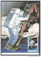 S. Tomè Principe 1980 Sc. 579 Luna 10° Anniv. Primo Allunnaggio : Astronauta E Modulo Lunare - FDC & Commemoratives