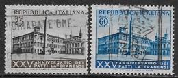 Italia Italy 1954 Patti Lateranensi Sa N.733-734 Completa US - 6. 1946-.. Repubblica
