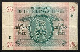 2/6 Shilling  BRITISH MILITARY AUTHORITY 1943  LOTTO 1784 - [ 3] Military Issues