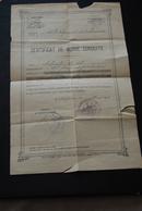 CERTIFICAT DE BONNE CONDUITE 1921 - Diploma & School Reports