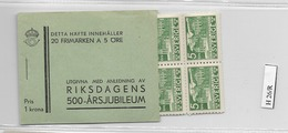 1935 MNH Booklet Mi 221  Sweden, Postfris - Boekjes