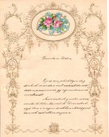 1908 LETTRE DE NOUVEL AN - NEW YEAR LETTER - NIEUWJAARSBRIEF - DOREE EN RELIEF - LOO 1908 ! DECOUPIS ROSE MYOSITIS - Announcements