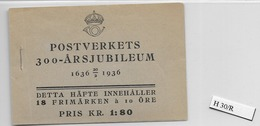 1936 MNH Booklet Mi 228  Sweden, Postfris - Boekjes