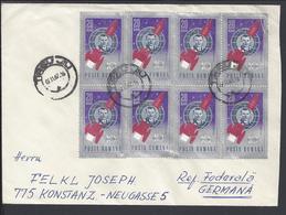 ROUMANIE - N° 2273 En Bloc De Huit Sur Enveloppe De Targu Jiu Vers Constance - B/TB - - 1948-.... Republics