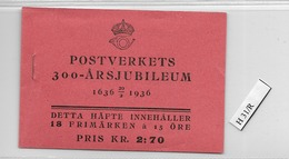 1936 MNH Booklet Mi 229  Sweden, Postfris - Boekjes