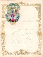 1910 LETTRE DE NOUVEL AN - NEW YEAR LETTER - NIEUWJAARSBRIEF - DOREE EN RELIEF - LOO 1910 ! DECOUPIS SUBERBE - Announcements