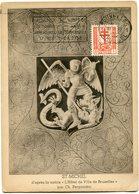 BELGIQUE CARTE MAXIMUM DU N°868 20c. + 5c; AU PROFIT D'OEUVRES ANTITUBERCULEUSES OBLITERATION BRUXELLES - Maximum Cards