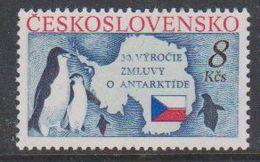 Czechoslovakia 1991 Antarctic Treaty 1v ** Mnh (38484A) - Ongebruikt