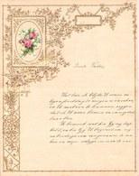 1909 LETTRE DE NOUVEL AN - NEW YEAR LETTER - NIEUWJAARSBRIEF - DOREE EN RELIEF - LOO 1909 ! DECOUPIS ROSE MUGUET - Announcements