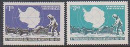 Chile 1971 Antarctic Treaty 2v ** Mnh (38484B) - Chili