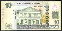 Suriname - 10 Dollar 2012 - P163b - Surinam
