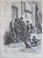 Gravure 1870   Quartier Mouffetard    Les Petits Savoyards   Dessin De FERAT - Non Classificati