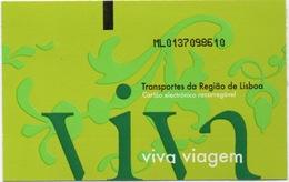 Ticket De Transport De Région Lisbonne Portugal (Bus Bateau Train Tramway) - Tram