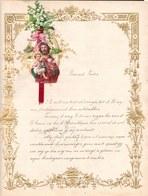 1910 LETTRE DE NOUVEL AN - NEW YEAR LETTER - NIEUWJAARSBRIEF - DOREE EN RELIEF - LOO 1910 ! DECOUPIS JESUS SUPERBE - Announcements