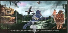 Guinea Guinee 2012 Tiere Animals Turtles & Birds 3val - Guinée (1958-...)