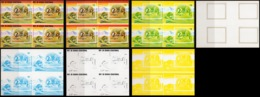 Guinea Equat. 1978, Dinosaurus, 7blocks Of 4 UNCUT Color Proofs - Equatorial Guinea