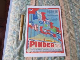 Affiche Cirque Pinder Sa Piste Unique Formule 1938 Reproduction Copie - Posters