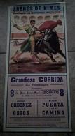 AFFICHE 30 GARD NIMES CORRIDA ORDONEZ CAMINO Domecq ILLUSTRATEUR TOROS TAUREAUX ARENES - Posters