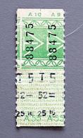 2 Tickets Papier Vert DesTramways De Versailles A55 Coll Schnabel - Tram