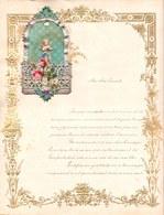 1911 LETTRE DE NOUVEL AN - NEW YEAR LETTER - NIEUWJAARSBRIEF - DOREE EN RELIEF - LOO 19 ! DECOUPIS CHERUBIN SUPERBE - Announcements