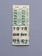 2 Tickets Papier Vert DesTramways De Versailles 1948 Coll Schnabel - Tram