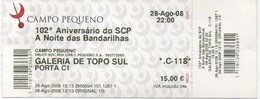 Ticket De Course De Taureaux Au Campo Pequeno à Lisbonne Portugal : 15,00€ : 28/08/2008 - Tickets D'entrée