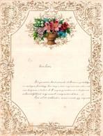 1911 LETTRE DE NOUVEL AN - NEW YEAR LETTER - NIEUWJAARSBRIEF - DOREE EN RELIEF - LOO 19 ! DECOUPIS FLEURS SUPERBE - Announcements