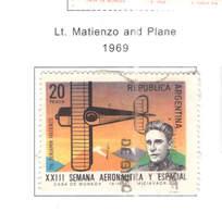 Argentina PO 1969 Matienzo E Plane    Scott. 913+ See Scan On Scott.Page - Argentina
