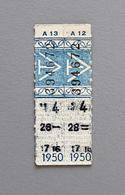 2 Tickets Papier Bleu  DesTramways De Versailles 1950 Coll Schnabel - Tram