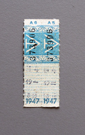 2 Tickets Papier Bleu  DesTramways De Versailles 1947 Coll Schnabel - Tram