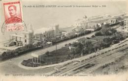 UN COIN DE SAINT ADRESSE OU EST INSTALLE LE GOUVERNEMENT BELGE 1914 AVEC CACHET ET TIMBRE - Sainte Adresse