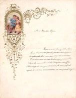 1883 LETTRE DE NOUVEL AN - NEW YEAR LETTER - NIEUWJAARSBRIEF - DOREE EN RELIEF - BRUGES 1883 !  SUPERBE MOTIF IMPRIME - Announcements