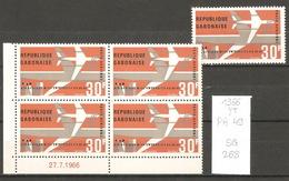 Gabon, Année 1966, Air Afrique, Bloc De 4 - Gabon