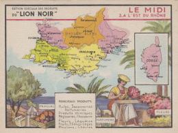 Chromos - Chromo Le Midi  - Huile Savon Parfum - Géographie Provence Alpes Côte D'Azur - Trade Cards