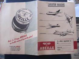 PROTEGE CAHIER - L'AVIATION MODERNE - AVIONS - PUB ABEILLE - Transports
