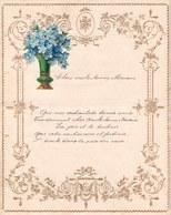 1908 LETTRE DE NOUVEL AN - NEW YEAR LETTER - NIEUWJAARSBRIEF - DOREE EN RELIEF - FURNES 1908 !  SUPERBE AJOUTIS MYOSOTIS - Announcements