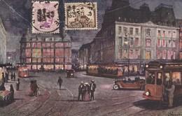 BELGIQUE Cachet Liège 19/4/1929 Sur Carte Postale Aquarelle Liège Pour Sfax Tunisie - Lettres & Documents