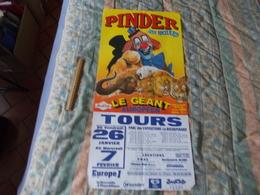 Affiche Cirque Pinder Jean Richard à Tours Supposé En 2001 - Posters