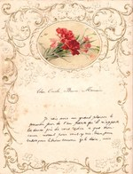 1906 LETTRE DE NOUVEL AN - NEW YEAR LETTER - NIEUWJAARSBRIEF - DOREE EN RELIEF - FURNES 1906 !  SUPERBE AJOUTIS FLEURS - Announcements