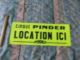 Affiche Du Cirque Pinder Location Ici - Posters