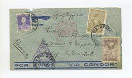 1934 Argentinien Zeppelinpost Brief Von Der Rückfahrt  Der 3. Südamerikafahrt über Flughafen Halle Sieger 256 - Argentinien