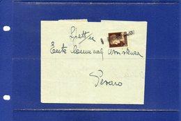 ##(DAN184/1)-1942-modulo Bancario B.N.A. Indirizzato A Pesaro Affrancato Cent10 Uso Recapito Autorizzato Annullo Lineare - 1900-44 Vittorio Emanuele III