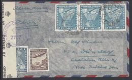 CHILI - 1948 - Affr. Timbres Aviation à 7.50 P. De Conception Pour L'Allemagne, Contrôle De Censure Brtitannique - TB - - Chile